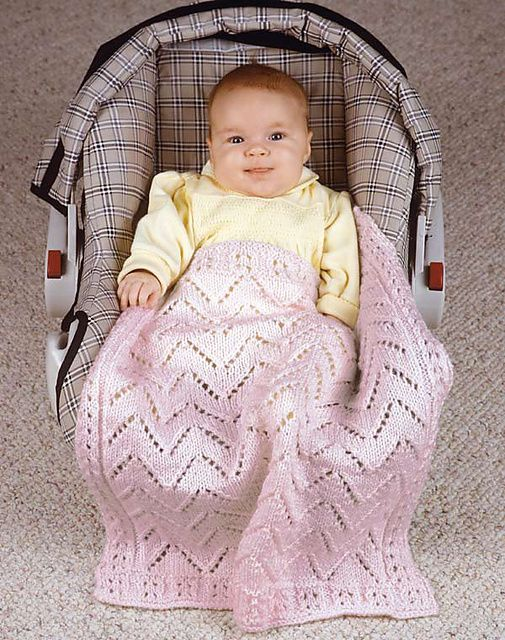 Ravelry Babys Car Seat Blanket Pattern By Sue Childress Knitting