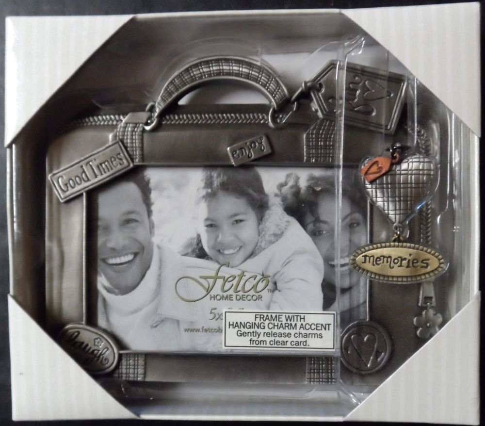 Fetco picture frame travel memories hanging charms holds 5 x 35 1489 pewter picture frame wcharms by fetco frame holds a 35 jeuxipadfo Gallery