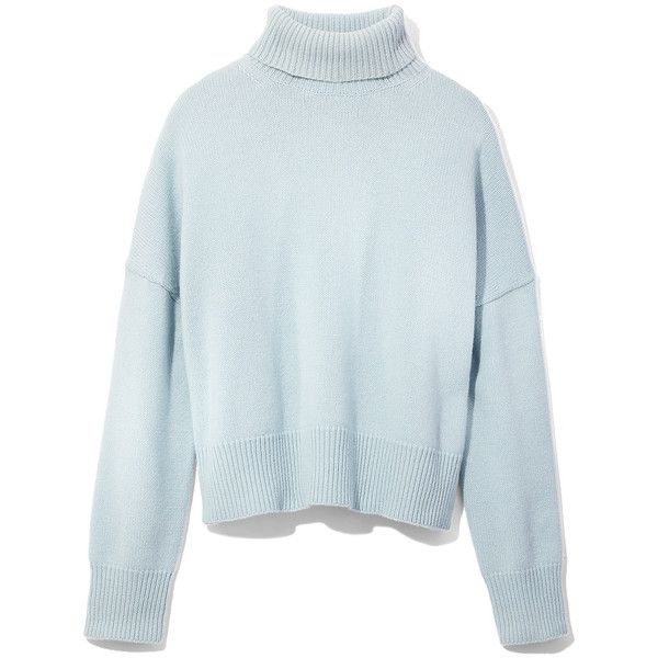 Nili Lotan Light Blue Turtleneck Sweater 1910 Pen Liked On