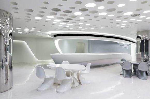 Zaha Hadid Futuristic Interior Luxury Modern Interior Future