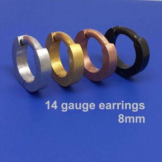 14 Gauge Hoop Earring Cartilage Earrings For Men