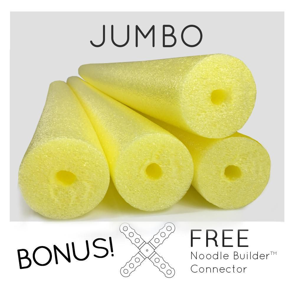 4 Pack Oodles Monster 55 Inch x 3.5 Inch Jumbo Swimming Pool Noodle Foam Multi-Purpose