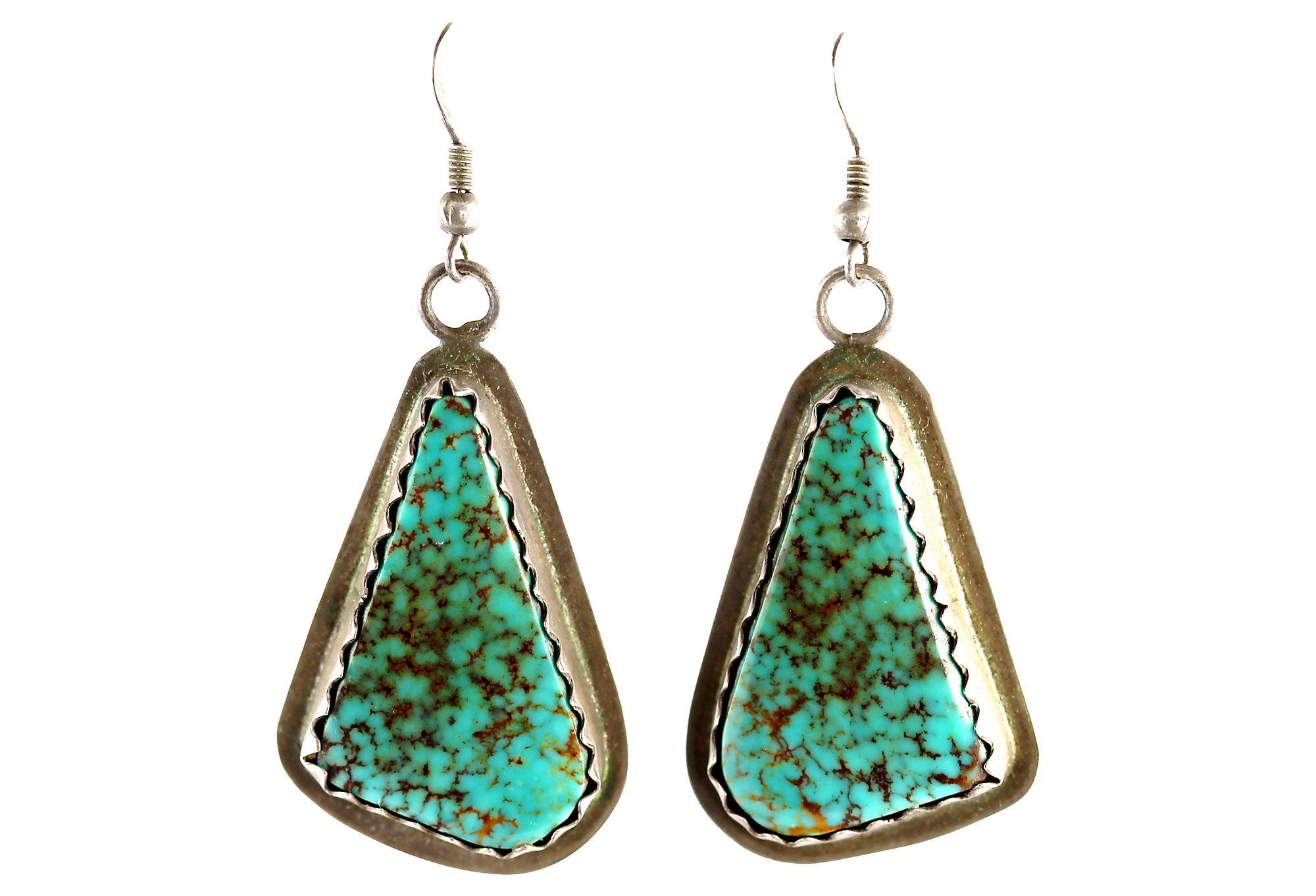 Navajo Spiderweb Turquoise Earrings | One Kings Lane