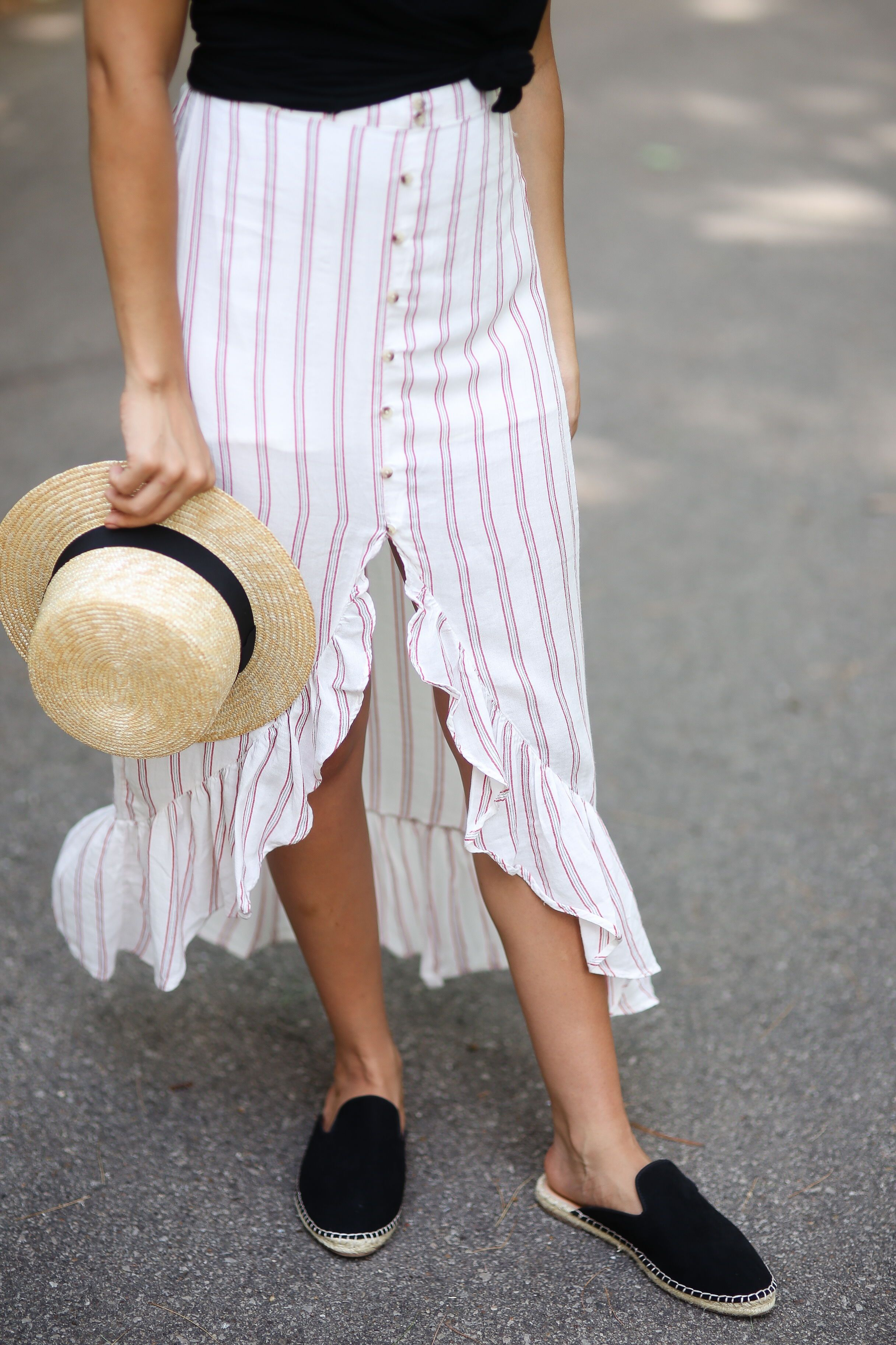 c215e344a9df espadrille outfit   french skirt   summer fashion   summer outfit   outfit  ideas   fashion   fashion blog   fashion blogger   straw hat