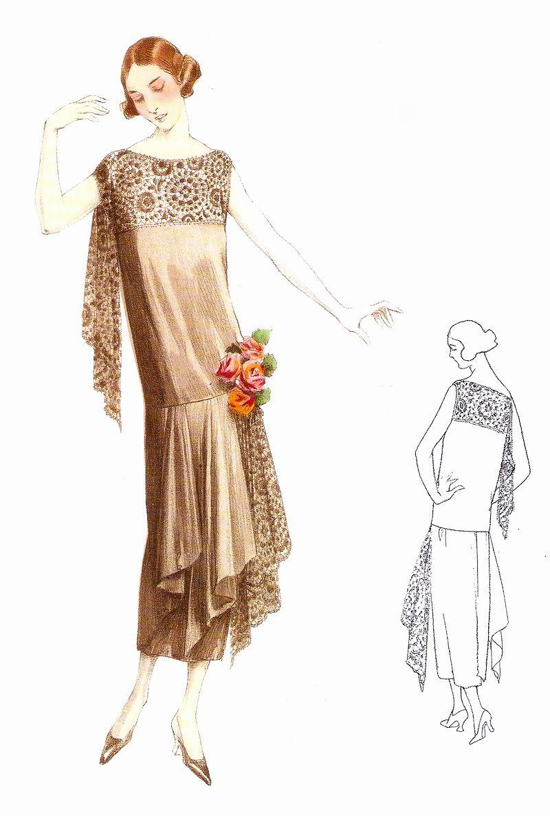1922 Fashion Dress 20er Jahre Mode 20er Jahre Kleider 20er Mode