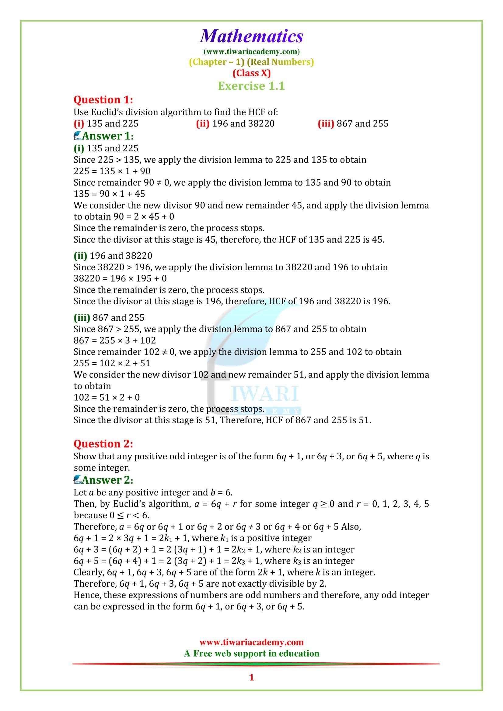 Ncert Solutions For Class 10 Maths Chapter 1 Exercise 1 1 Math Exercises Math Maths Ncert Solutions [ 2339 x 1653 Pixel ]