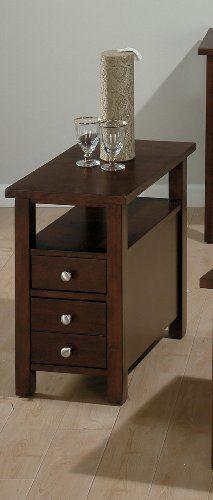 Jofran Small Space Milton Chairside Table Http Www Amazon Com Dp B0024985gg Ref Cm Sw R Pi Awdm Whp Chair Side Table Small End Tables Side Table With Drawer