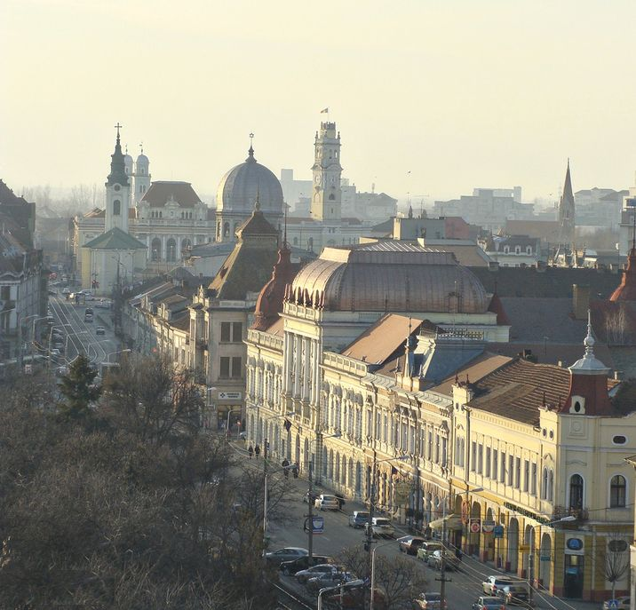 Beautiful Panorama Landscape Oradea Romanain Cities Eastern European City Architecture Roumanie