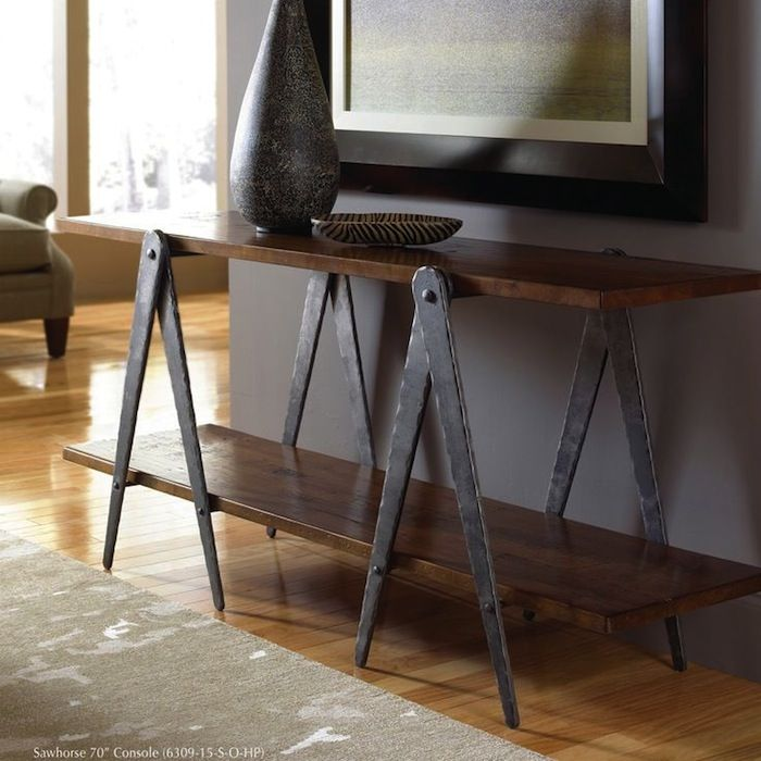 Living Room Console Table Ideas U0026 Tips. Industrial Console TablesIndustrial  FurnitureMetal ...