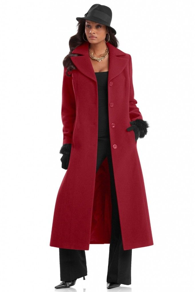 Long Winter Dress Coats | If you want to complete the look, add a ...