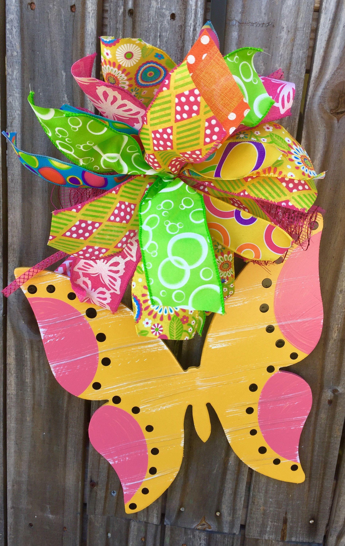 butterfly door hanger whimsical door hanger summer decor by speci