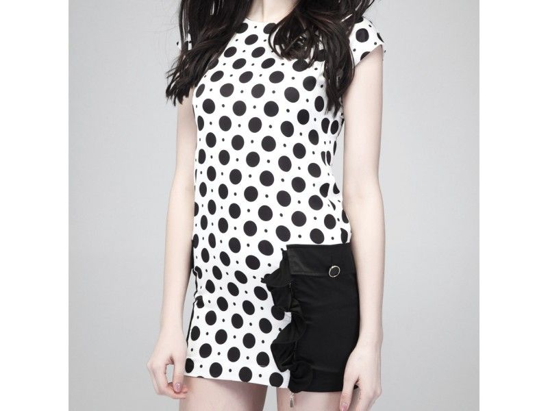 #Lacey Black and White #Dress