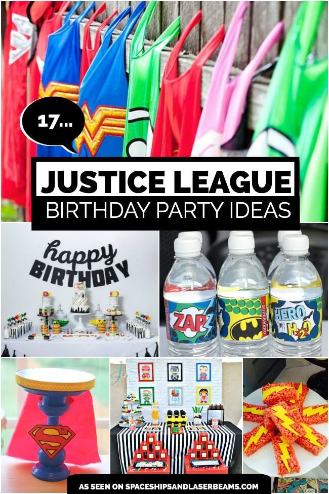 17 Awesome Justice League Party Ideas | Justice league, Birthday ...