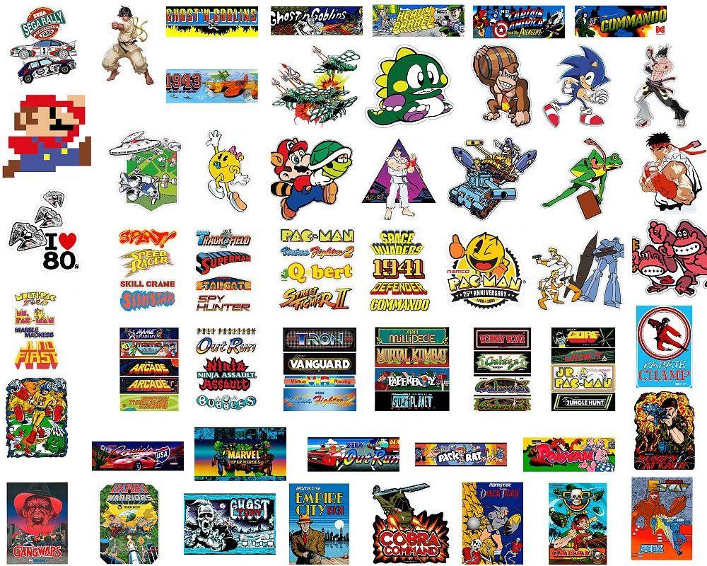 #Pegatinas impresas sobre #vinilo de videojuegos clásicos http://www.ebrevinil.com/a26-stickers-troquelados-videojuegos-clasicos