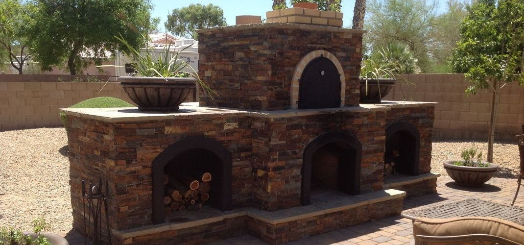 Prefab Pizza Oven Fireplace Scottsdale Phoenix Wood Fired Outdoor Brick Pizza Ovens