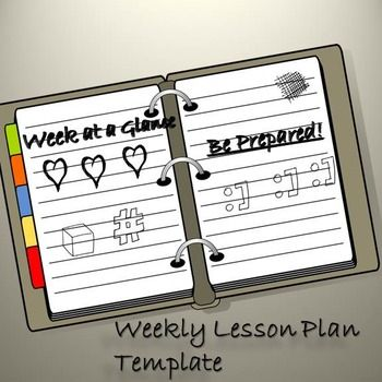 Lesson Plan Template Week At A Glance Free Teacher Resources