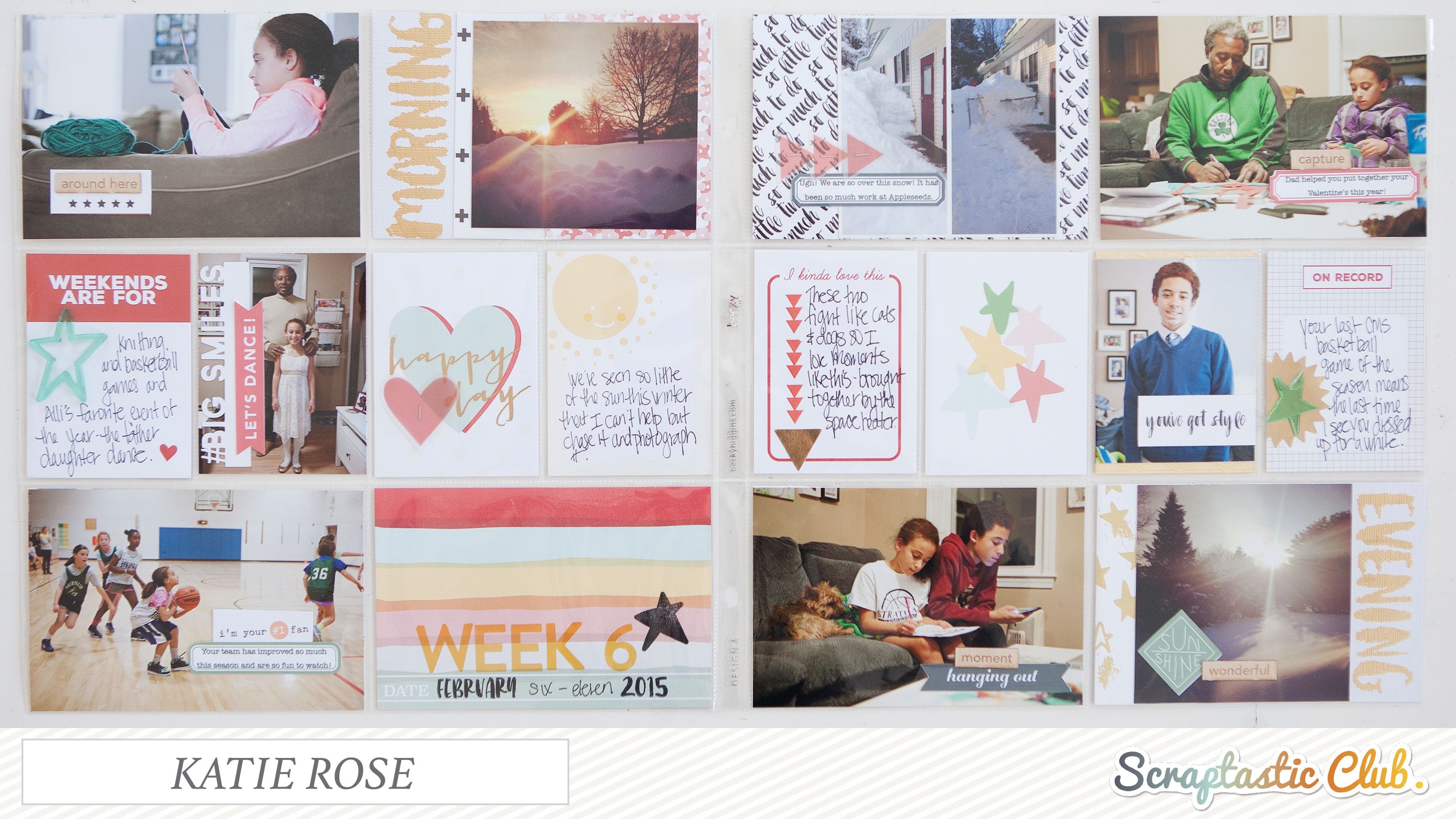 Week 6 by Katie Rose using Scraptastic Club's March This Life Noted kit.