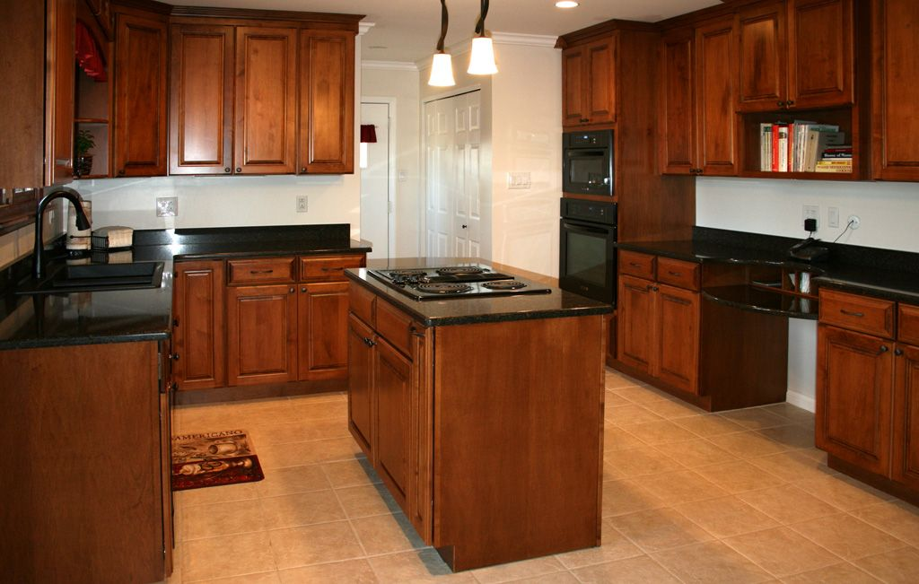 Perfect Maple Kitchen Cabinets With Cherry Stain Look At Little Computer Center