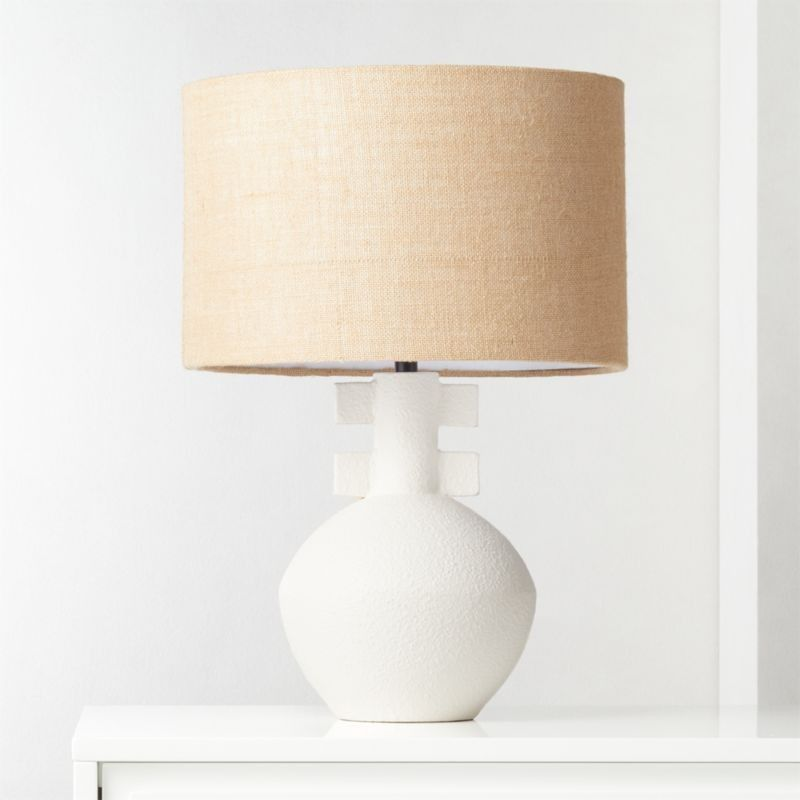 Domani Textured White Table Lamp Cb2 In 2020 White Table Lamp Table Lamp Pendant Lamp