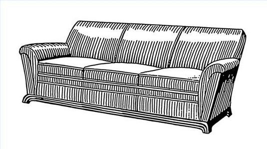 Sofa Ilration, Difference Between A Couch Sofa And Davenport