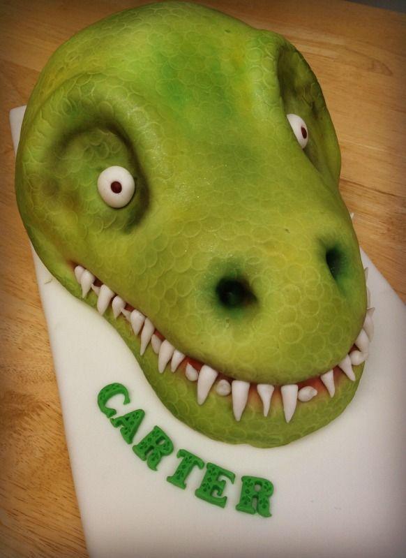 TRex Cake Tutorial Cake tutorial Cake and Dino cake