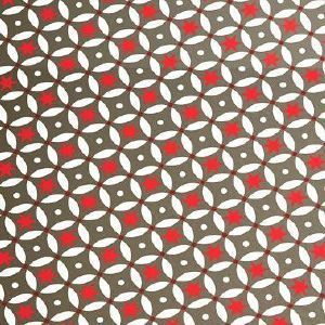 Self Adhesive Vinyl Floor Tiles Red Stars 25 Per M2 Retro Funky Patterned Adhesive Vinyl