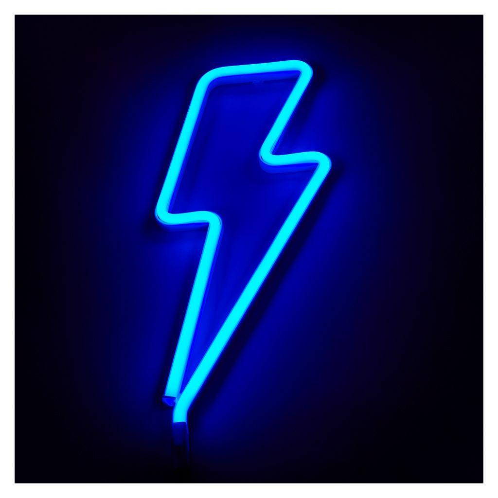 Neon Lightning Bolt Light Blue Blue Neon Lights Light Blue Aesthetic Neon Wallpaper