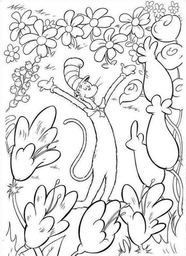 Dr Seuss Coloring Pages Dr Seuss Coloring Pages Cat In The Hat ...