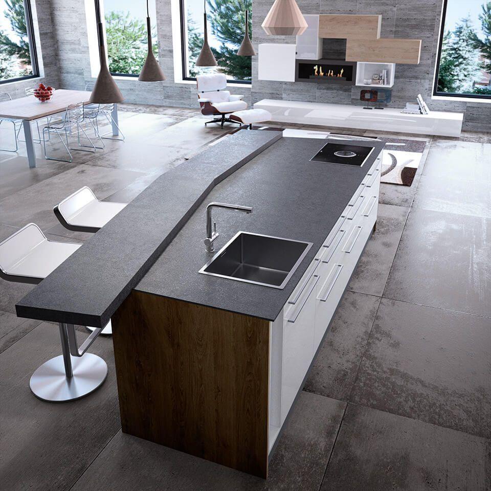 Superb Viele Bilder Und Ideen Für Deine Neue Küche, In Der Eine Schwarze Kochinsel  Im Mittelpunkt Steht. Spannende Kontraste Und Kombinationen Erwarten Dich! Idea