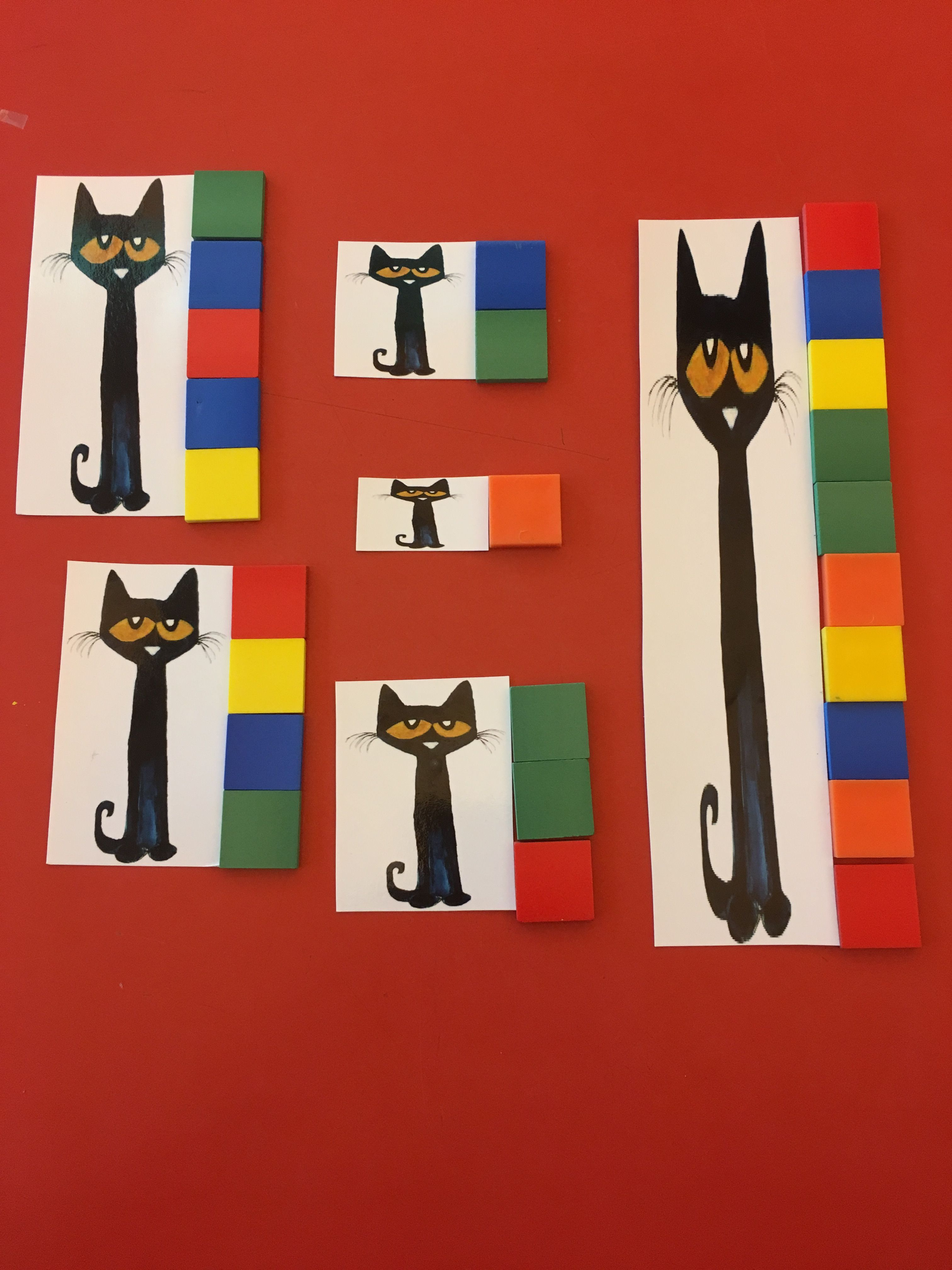 Pete The Cat Math Measuring Using One Inch Tiles