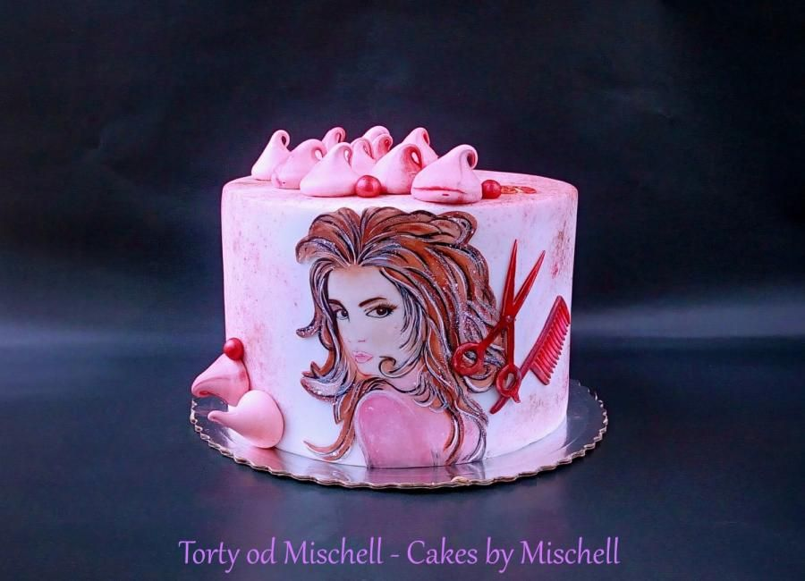 Painted hairdresser cake by Mischell   Cake, Hairdresser ...