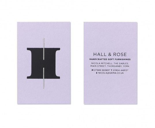 Hall and Rose | designed by Elmwood | #identity business card #logo