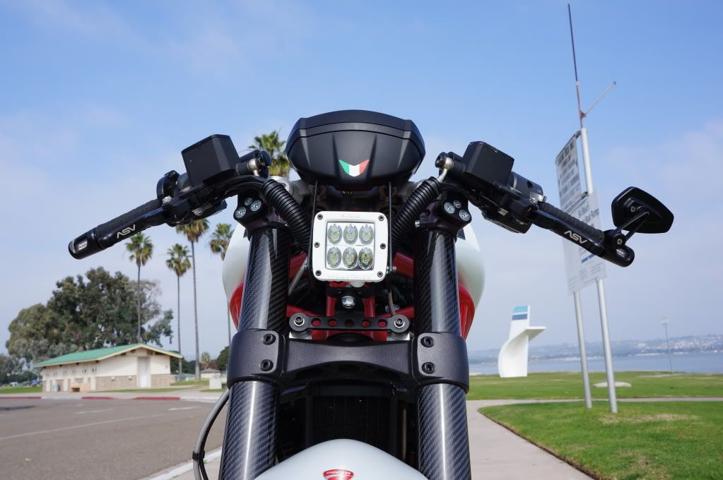 let there be light! m796 led headlight project <pics> - ducati