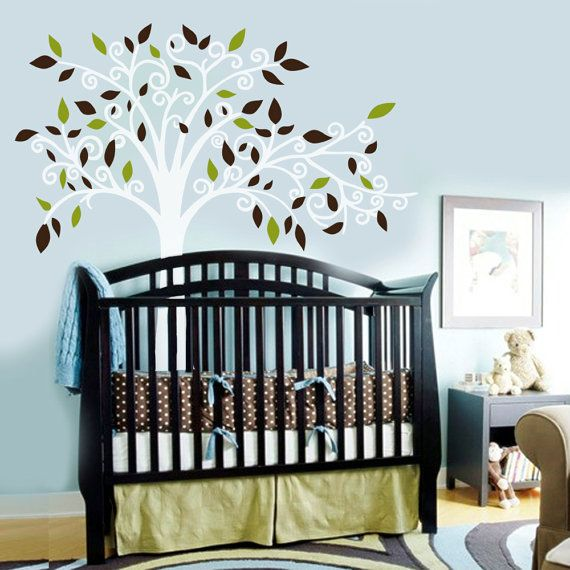 Vinyl Wall Decal Sticker Curl Tree Boy or Girl by missymoovinyl, $90.00