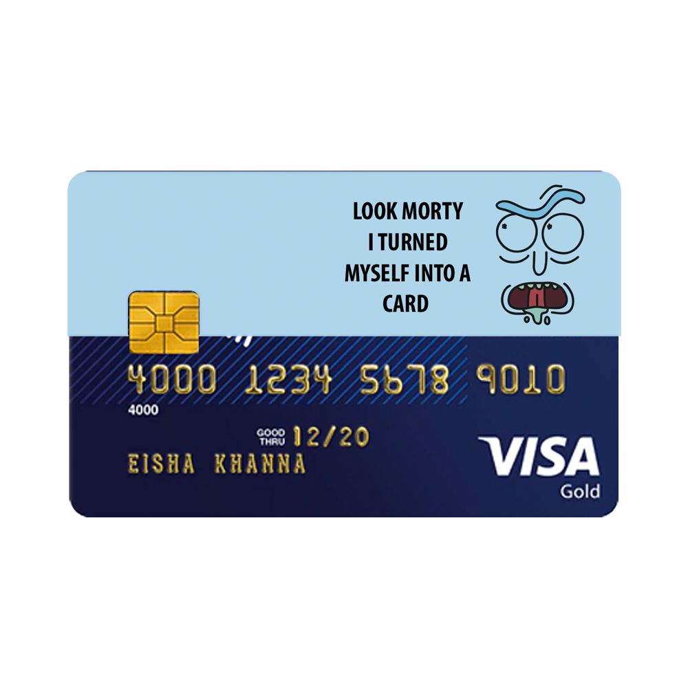 Rick Turned Into A Card Cards Visa Gift Card Fishing Cards