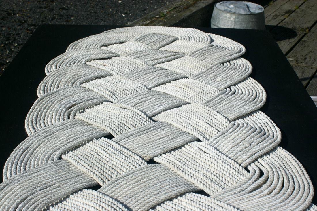 Marine Rope Woven Rug Cool Alaska Company