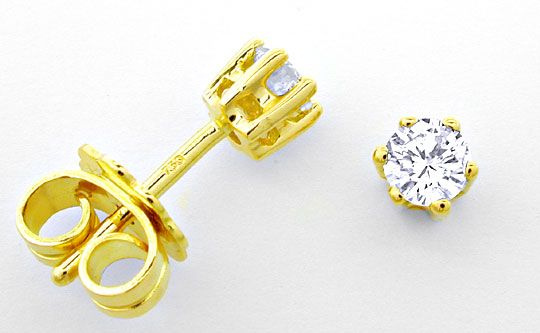 Foto 1, BRILLANT-DIAMANT-OHRSTECKER -OHRRINGE RIVER LUXUS! Neu!, S6997