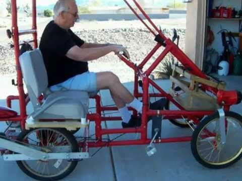 American Speedster PVC 4 wheel bicycle.MOV | Bicycle Fun ...