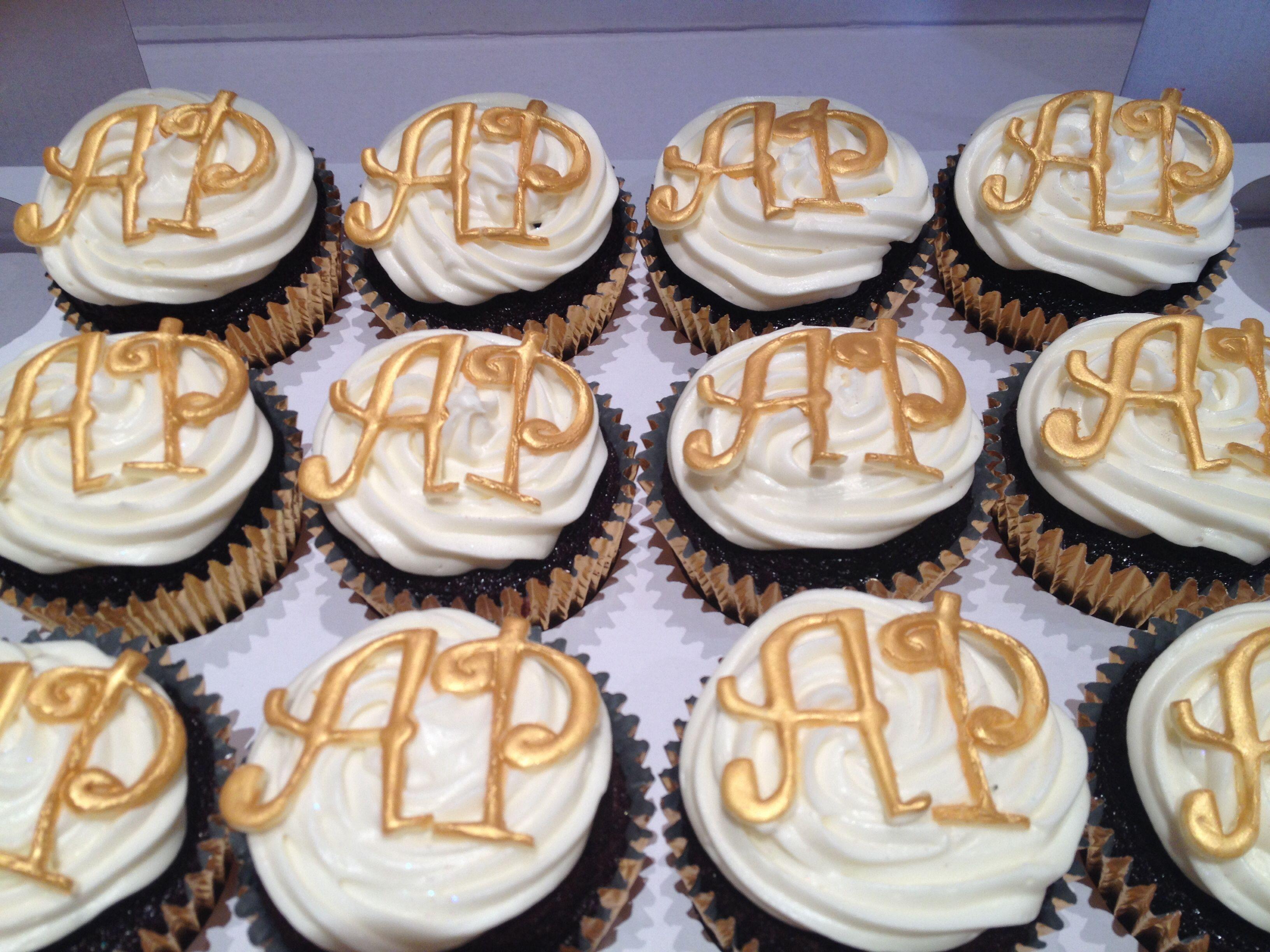 Golden Wedding Anniversary Cupcakes Anniversary cupcakes