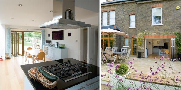 Victorian home light filled extension extension for Terrace kitchen ideas