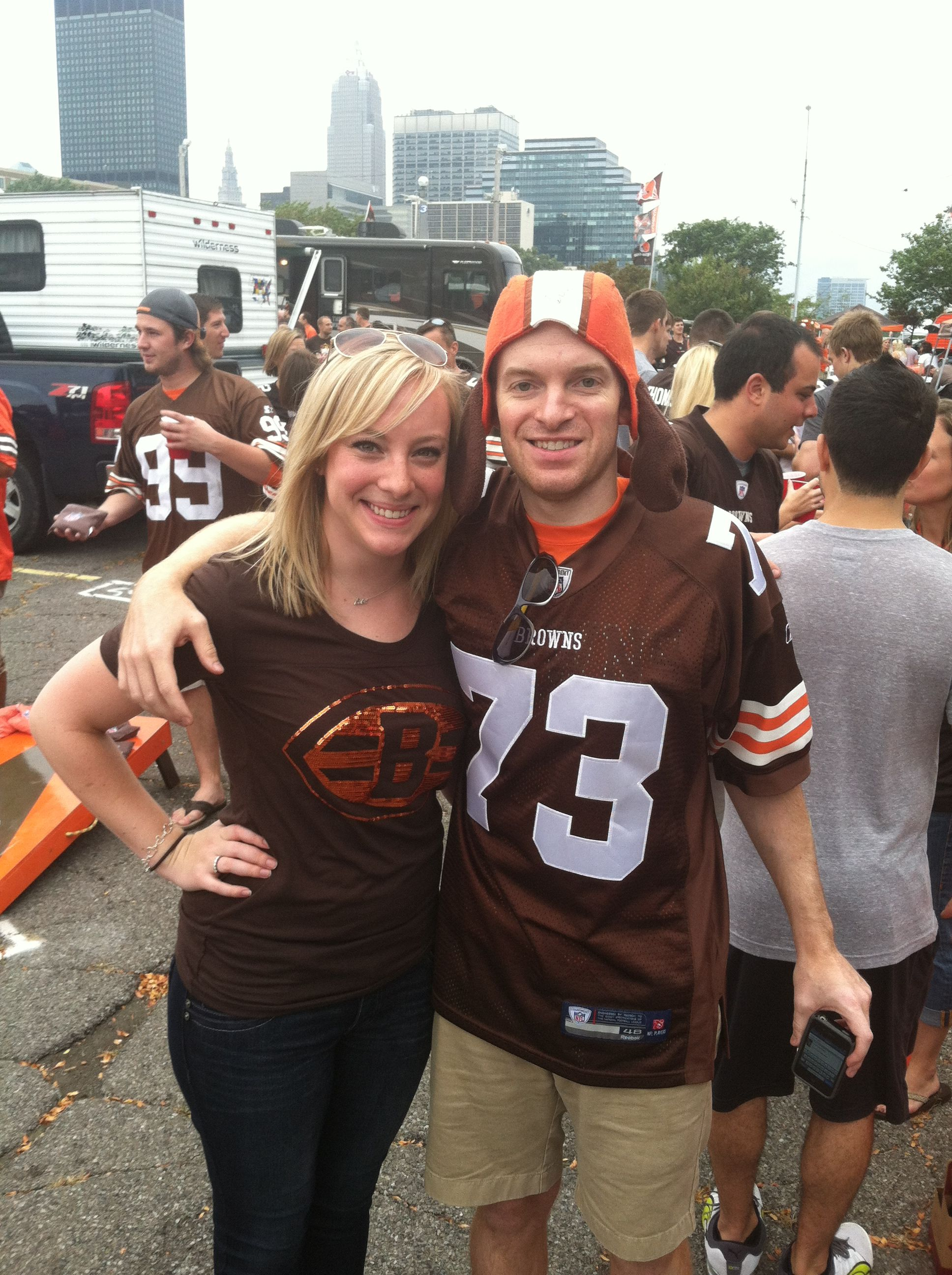 Two Super Fans Tailgating At Browns Home Opener 2013 Browns Fans Football Conference National Football League