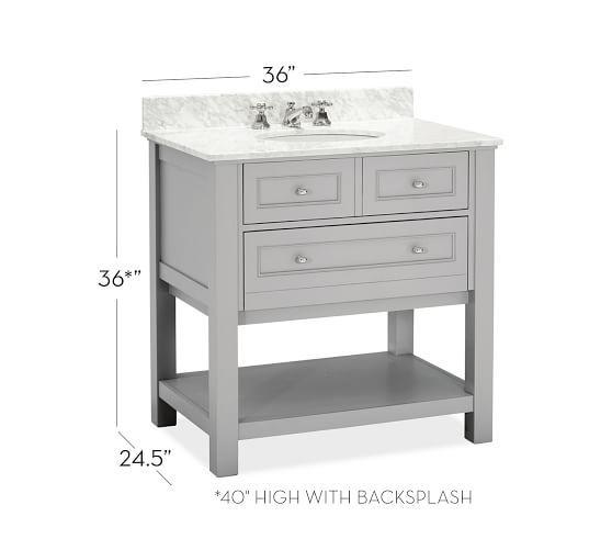 Clic Single Sink Vanity Gray 36
