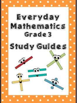 Everyday Math Review Study Guides Units 1 9 Bundle Grade 3