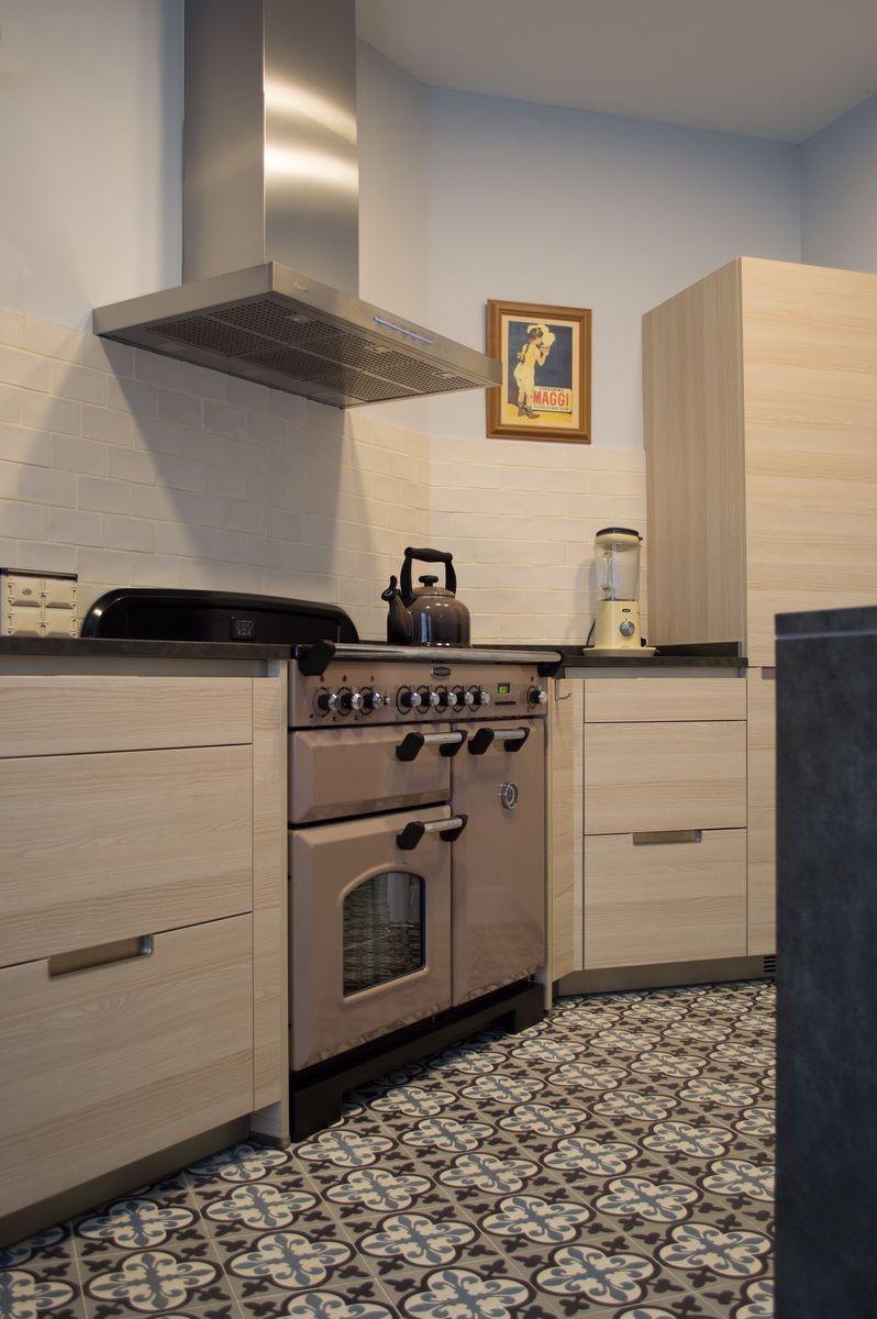 Muebles De Cocina En Madera Y Encimera Cer Mica Baldosa  # Muebles Locos Centenario