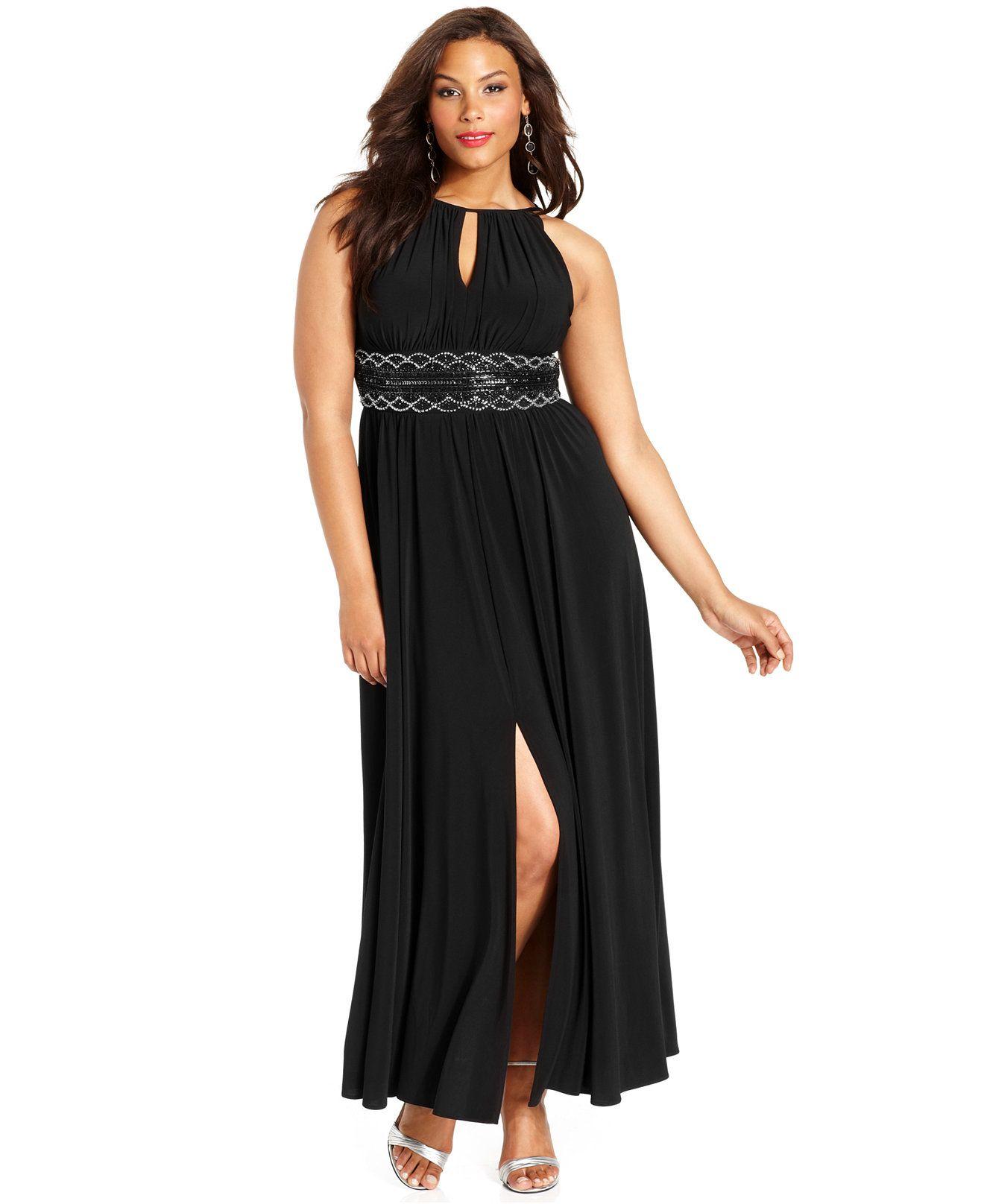 R&M Richards Plus Size Sleeveless Beaded Gown | Curvy Genius ...