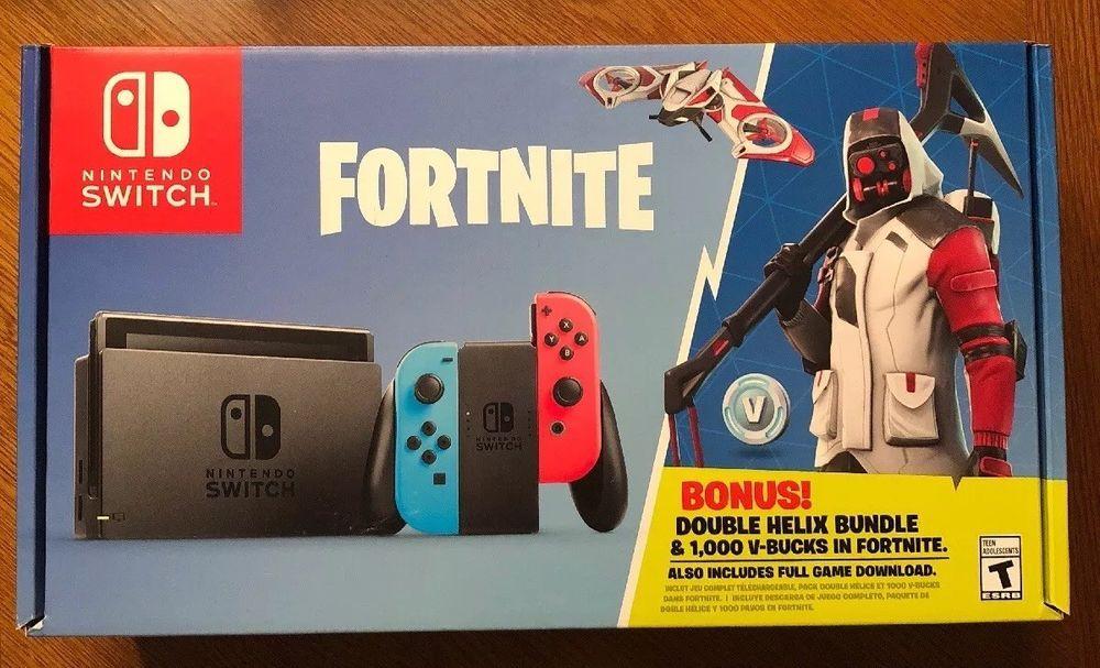 Brand New Nintendo Switch Fortnite Double Helix Bundle Plus 1000 V Bucks Buy Nintendo Switch Nintendo Switch System Nintendo