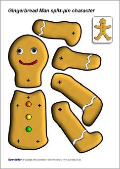 SplitPin Gingerbread Man Sb  Sparklebox  Paper Doll