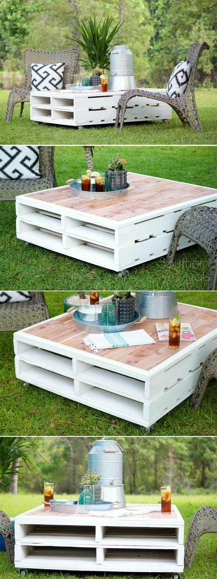 Garden Coffee Table Mobel Aus Paletten Projekte Im Freien Diy Paletten