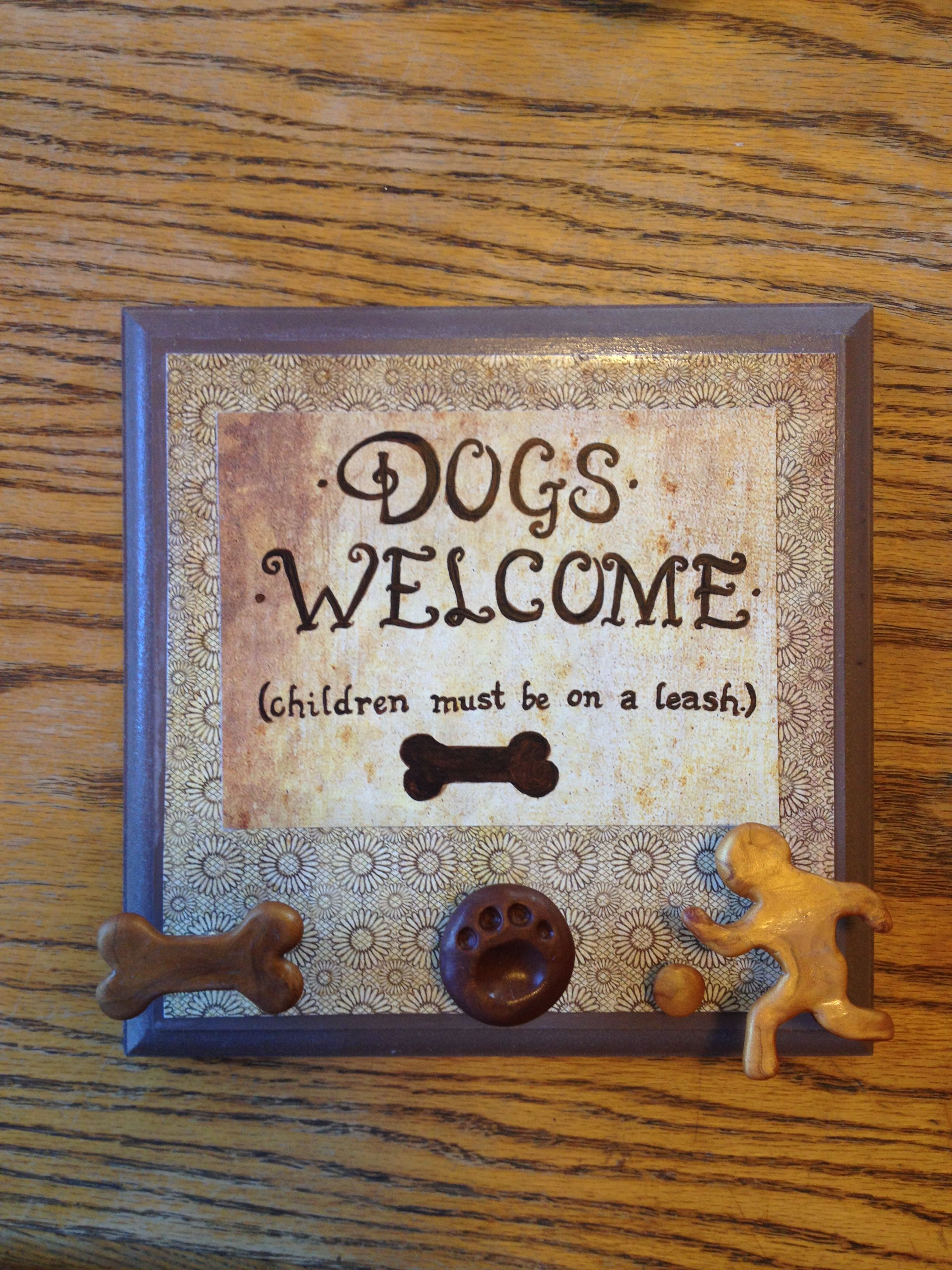 Scrapbook paper dogs - Mdf Board Clay Built Onto Screws For Hooks Scrapbook Paper Paint And Mod