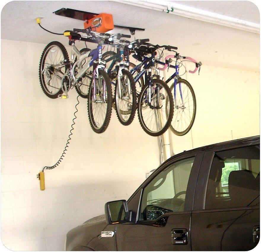 Garage Gator Motorized Hoist Storage System Tools Garage Organization Shelving Ceiling Storage Bike Storage Systems Bike Storage Rack Bike Storage